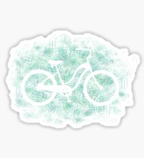 Beach Cruiser Bike Silhouette Sticker