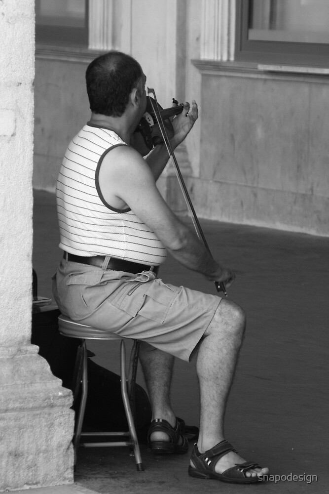 Street Violonist by snapodesign