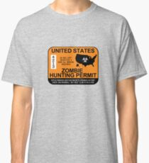 Zombie Hunting Permit 2012/2013 Classic T-Shirt