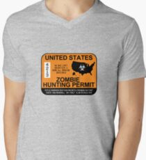Zombie Hunting Permit 2012/2013 Men's V-Neck T-Shirt