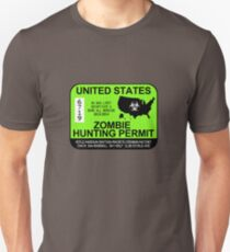 Zombie Hunting Permit 2013/2014 T-Shirt