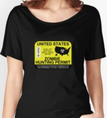 Zombie Hunting Permit 2015/2016 Women's Relaxed Fit T-Shirt