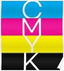 CMYK (geeky designer graphic) Poster