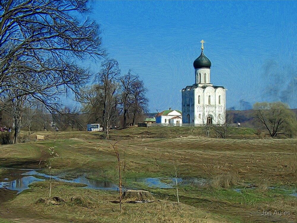 Church of the Intercession on the Nerl1 by Jon Ayres