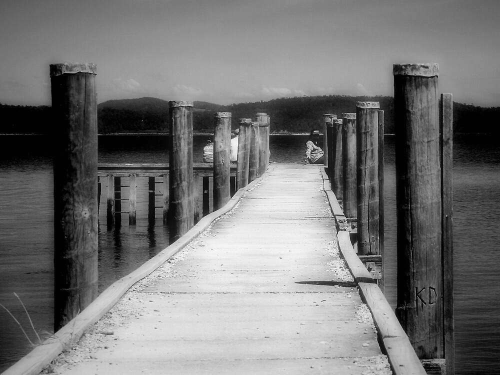 Squeaking Point Pier, Tasmania by Jodi Turner