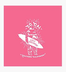 SoCal Cali Dreamin' Pink Bear Shirt //  Southern California Shirt // SoCal Surfer Shirt // Surfer Bear Shirt // California Adventure // California Adventurer Photographic Print