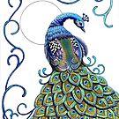 """Peacock Wonder"" by Winterberry  Farm Studio"