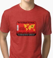 International Zombie Hunting Permit 2017 Tri-blend T-Shirt
