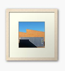 Shipping container warehouse Framed Print