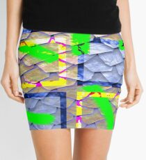 Collage with rooftop effect Mini Skirt