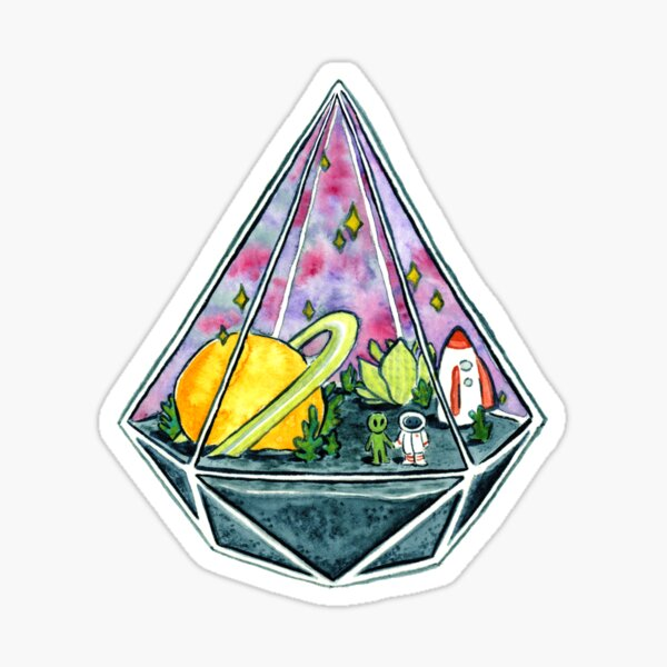 Space Love Sticker