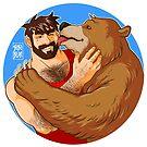 BEAR KISS - COLOURED by bobobear