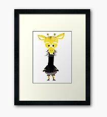 Misfits Giraffe Framed Print