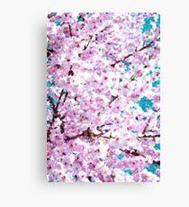 Japanese Cherry Trees Flowers Art Canvas Print