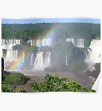 Iguassu Falls, Brazil, South America Poster