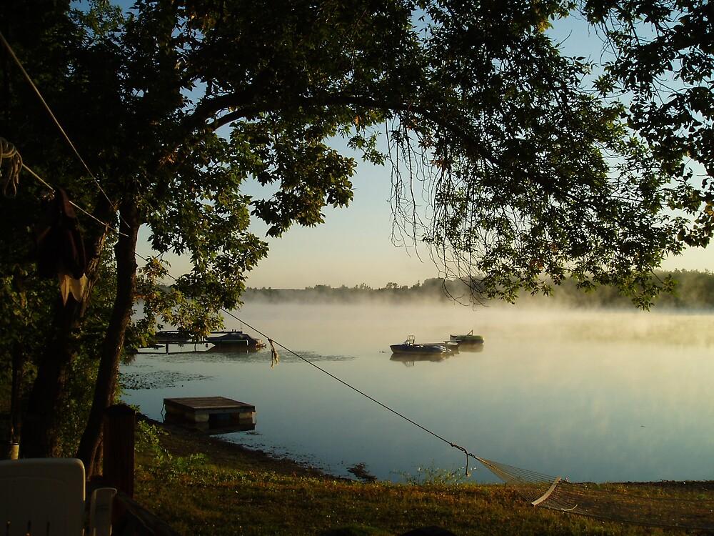 Sunrise on Thompson's Lake by Deborah Stewart
