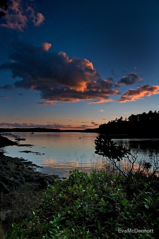August Sunset Back River by EvaMcDermott