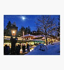 Moonlight in Butchart Gardens (Carol Singers) Photographic Print