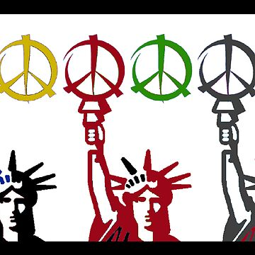 """Peace & Liberty"" by Artist Alexander Aristotle by Urban59"