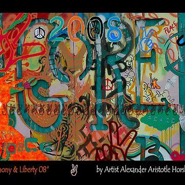 """Peace Harmony & Liberty"" by Urban Artist Alexander Aristotle by Urban59"