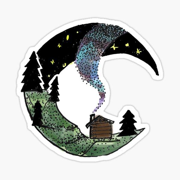 Cabin under the Stars Sticker
