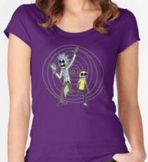 Camiseta entallada de cuello ancho Portal esqueleto