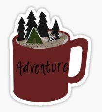 Camping Adventure Mug Sticker