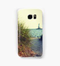 Lake Michigan dune grass Samsung Galaxy Case/Skin