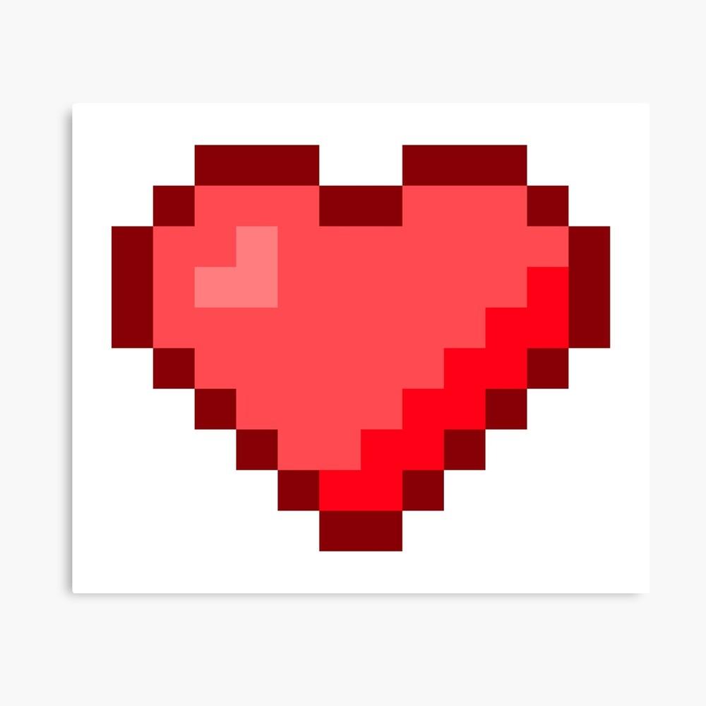 Impression Photo Un Coeur Pixel Art Par Jcpixeline Redbubble