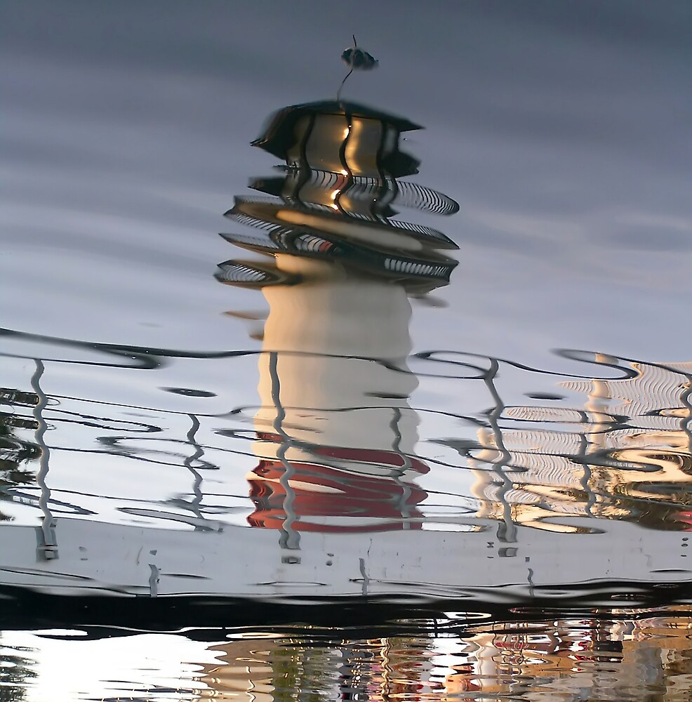 Reflected Lighthouse by Chuck Cannova