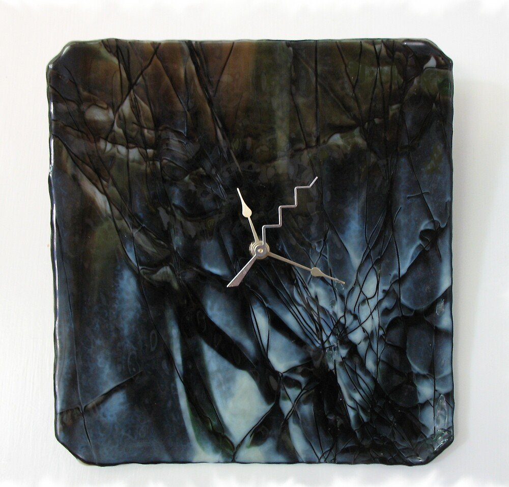 """Experimental Series Clock - """"Time Fractured"""" by Kaz Rhoads"""
