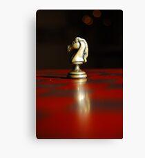 Winning Piece on Chess Canvas Print