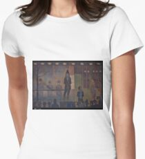 Georges Seurat - Circus Sideshow Womens Fitted T-Shirt