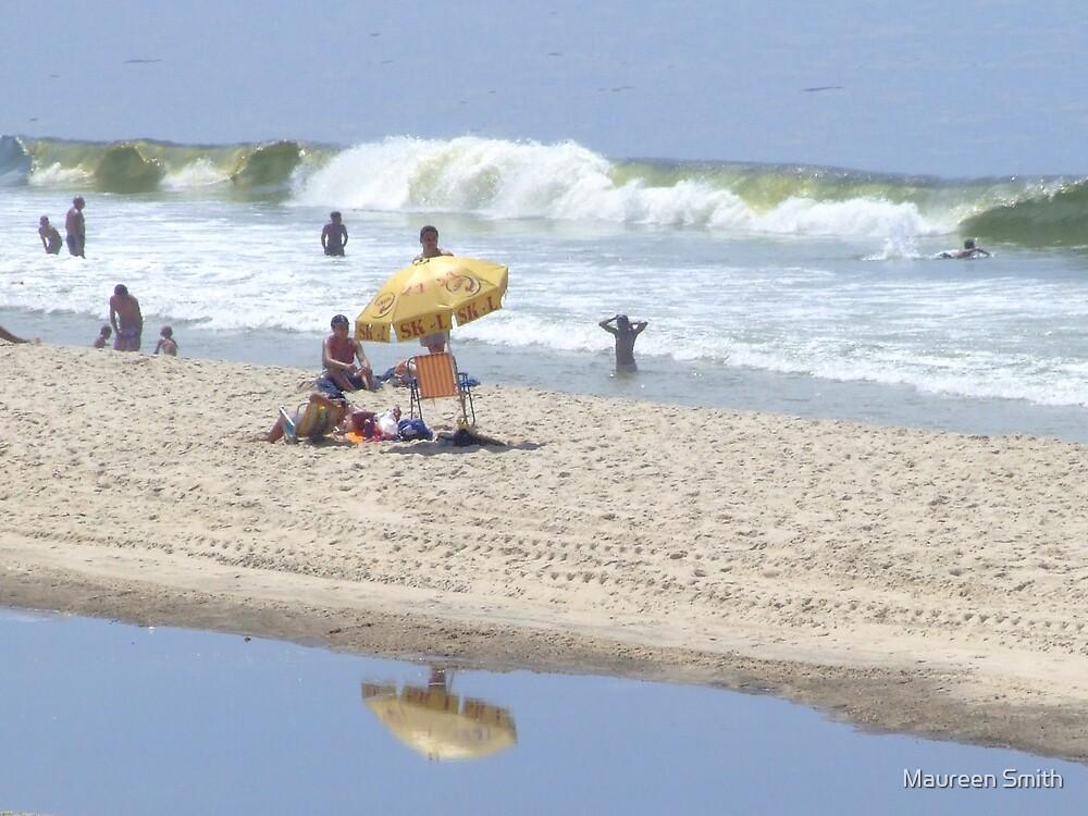 Beach Scene, Rio, South America by Maureen Smith