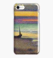 Georges Lemmen - The Beach At Heist iPhone Case/Skin