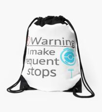 I Make Frequent Stops - Pokemon Go Drawstring Bag