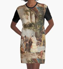 Georges Jules Victor Clairin - The Spanish Dancers Graphic T-Shirt Dress