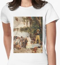 Georges Jules Victor Clairin - The Spanish Dancers Women's Fitted T-Shirt