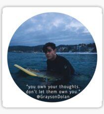 Grayson Dolan Thoughts  Sticker