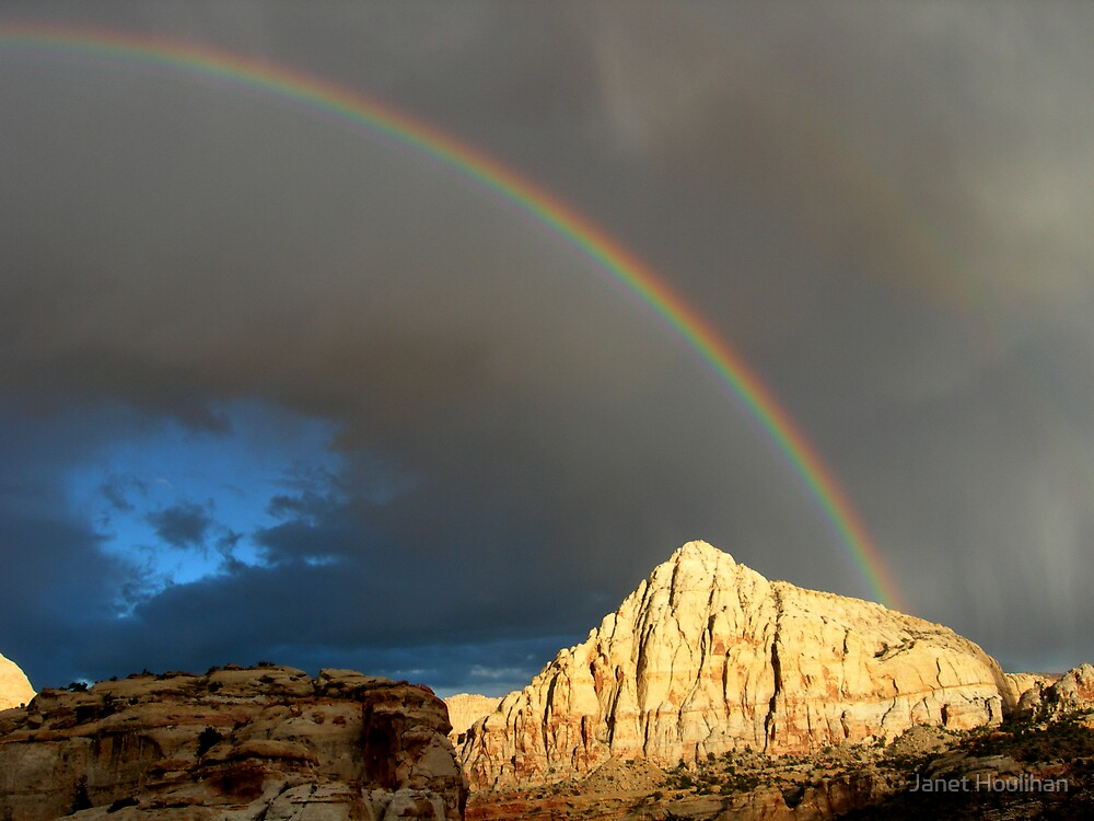 Rainbow over Capital Reef National Park by Janet Houlihan