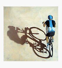 Single Focus Tour de France bicycle oil painting Photographic Print