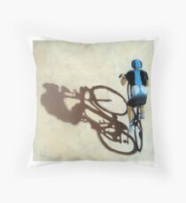 Single Focus Tour de France bicycle oil painting Throw Pillow