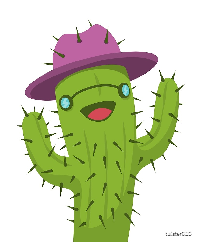 hippie cactus print funny cactus artwork by twister025 redbubble