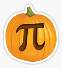 Halloween Pumpkin Pie Pi Sticker