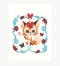 Leafy Fox Art Print
