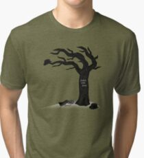 Waiting for Godot - Godot Was Here Tri-blend T-Shirt