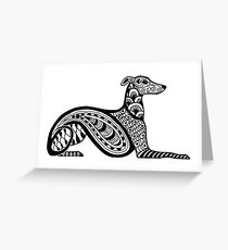 Zentangle Whippet Greeting Card