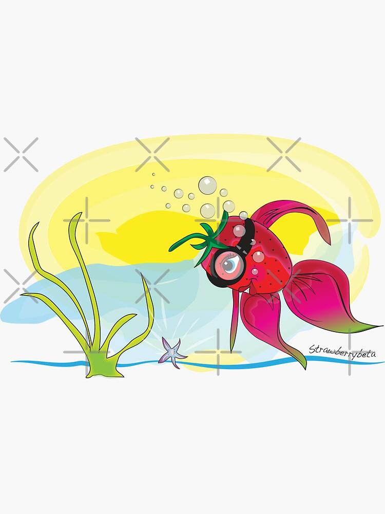 StrawberryBeta Fish by CreativeContour