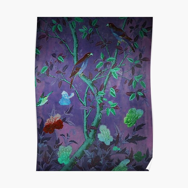 Aubergine & Teal Chinoiserie Poster