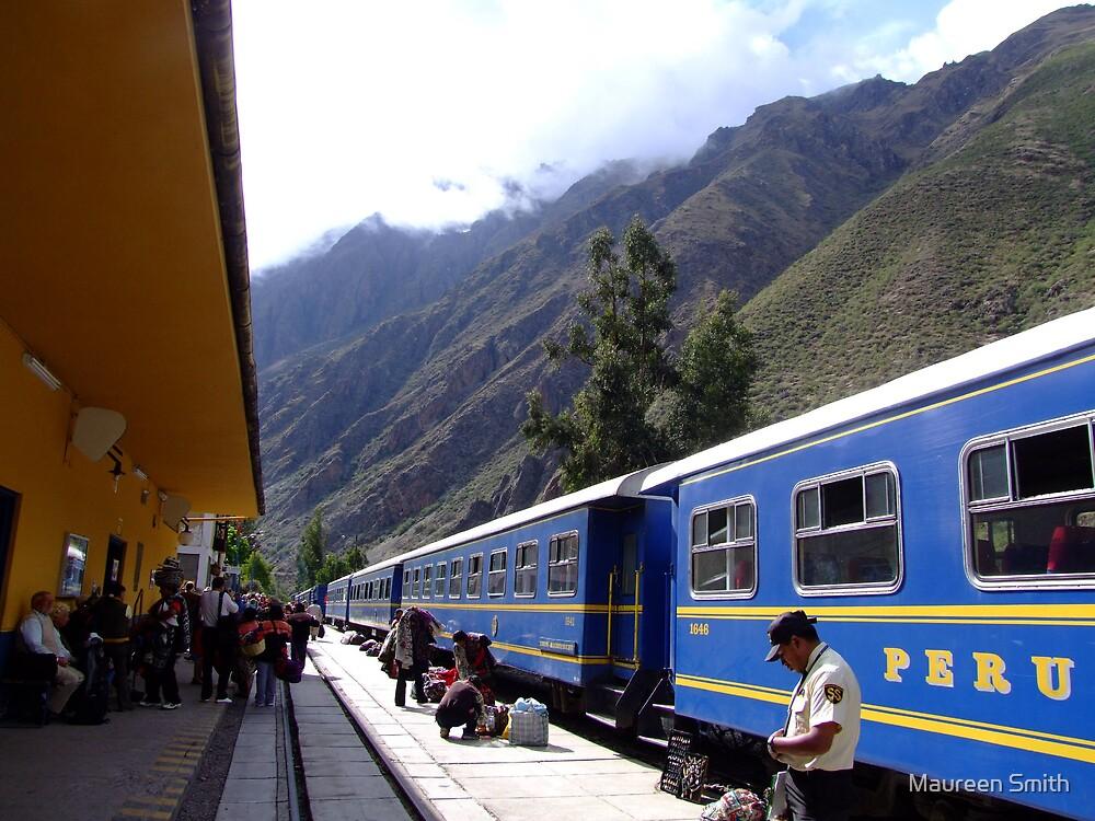 Train station to catch train to Machu Picchu, Peru, South America by Maureen Smith